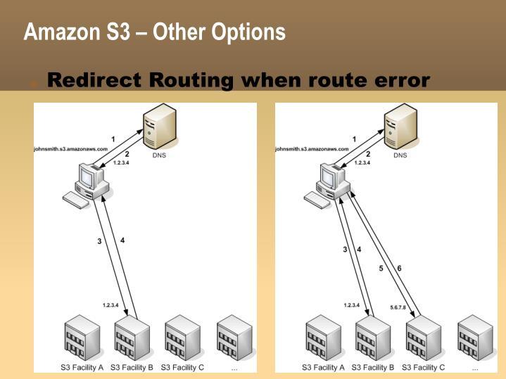 Amazon S3 – Other Options