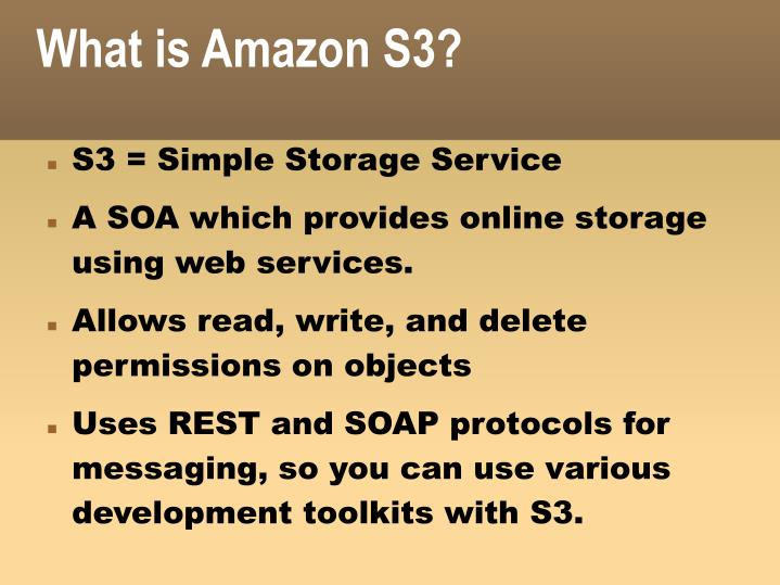 What is Amazon S3?