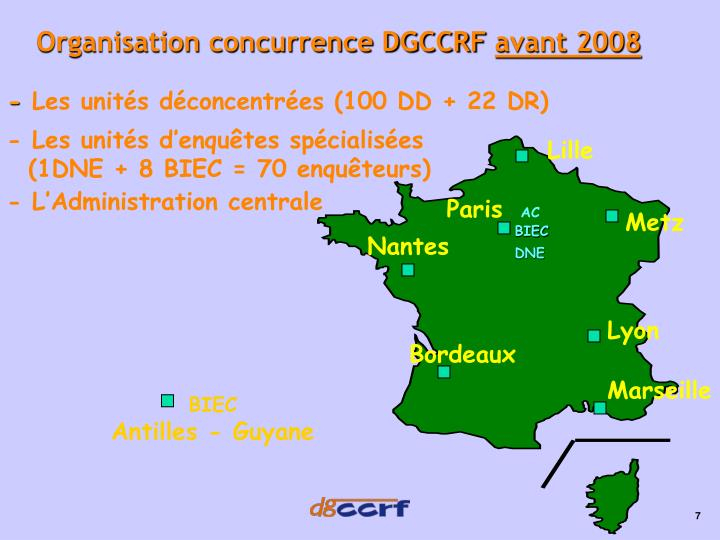Organisation concurrence DGCCRF