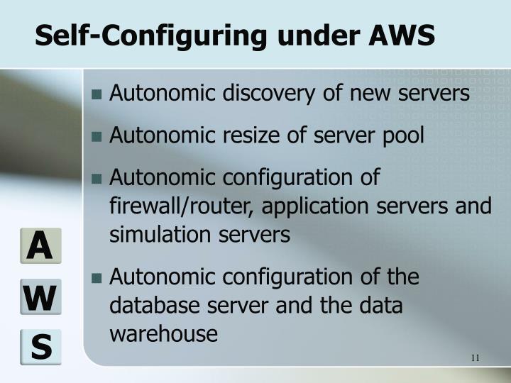 Self-Configuring under AWS