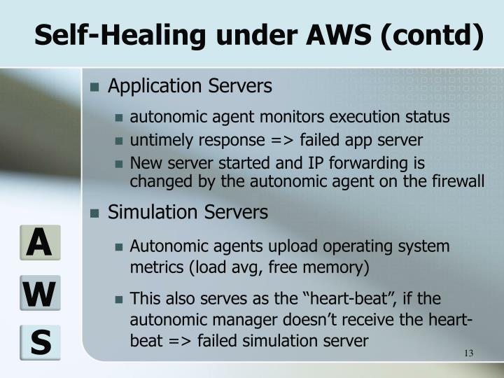 Self-Healing under AWS (contd)