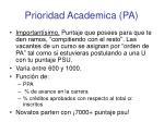 prioridad academica pa