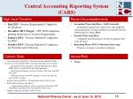 central accounting reporting system cars