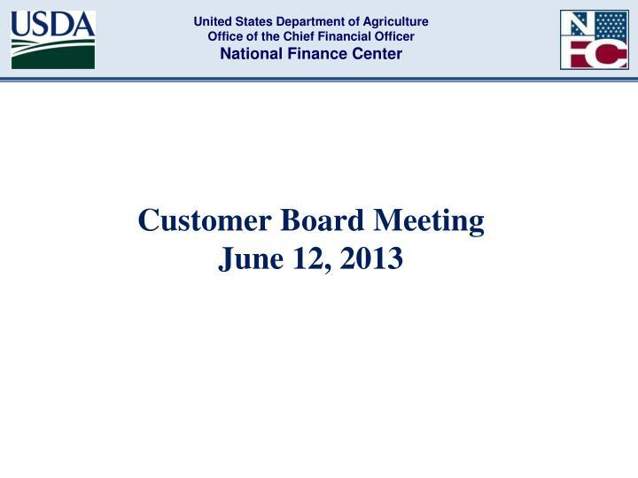 customer board meeting june 12 2013