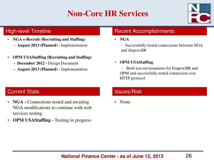 Non-Core HR Services