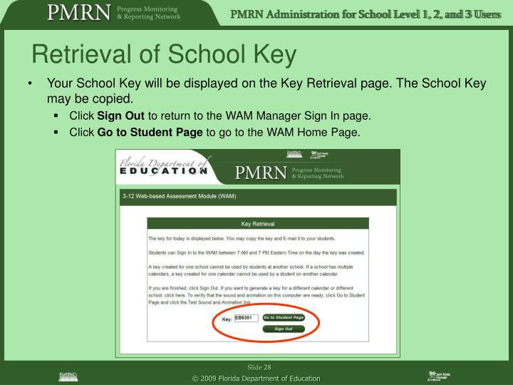 Retrieval of School Key