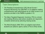 task descriptions