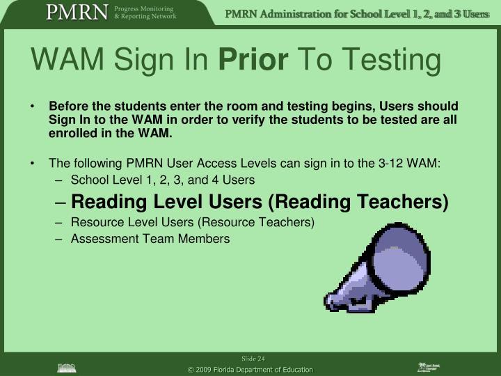 WAM Sign In