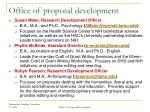 office of proposal development1