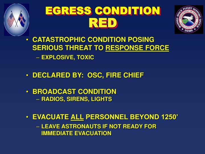 EGRESS CONDITION