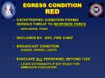 egress condition red