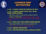 launch day activities