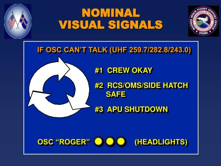 "OSC ""ROGER""                      (HEADLIGHTS)"