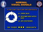 nominal visual signals