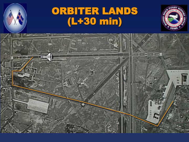 ORBITER LANDS