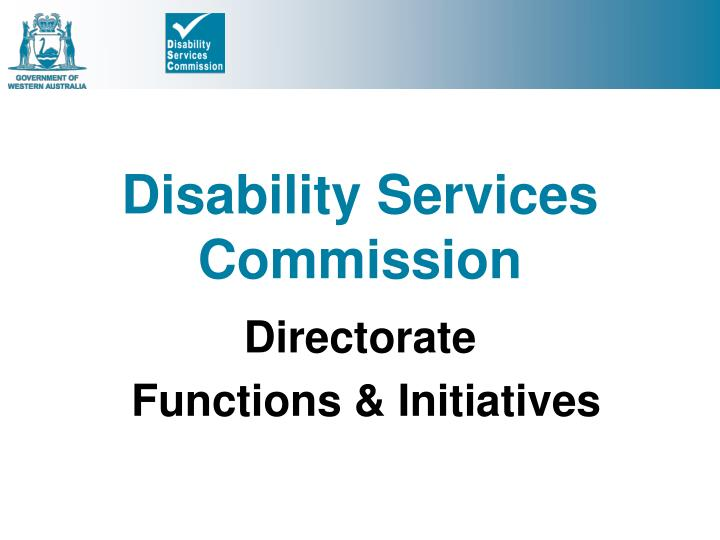 Disability services commission
