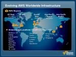 evolving aws worldwide infrastructure