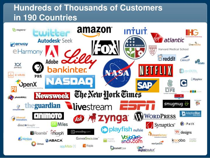 Hundreds of Thousands of Customers