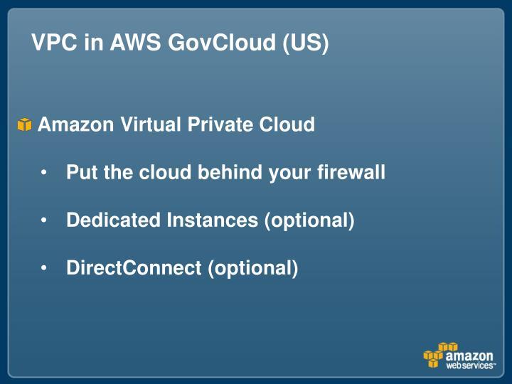 VPC in AWS GovCloud (US)