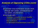 analysis of opposing coas cont