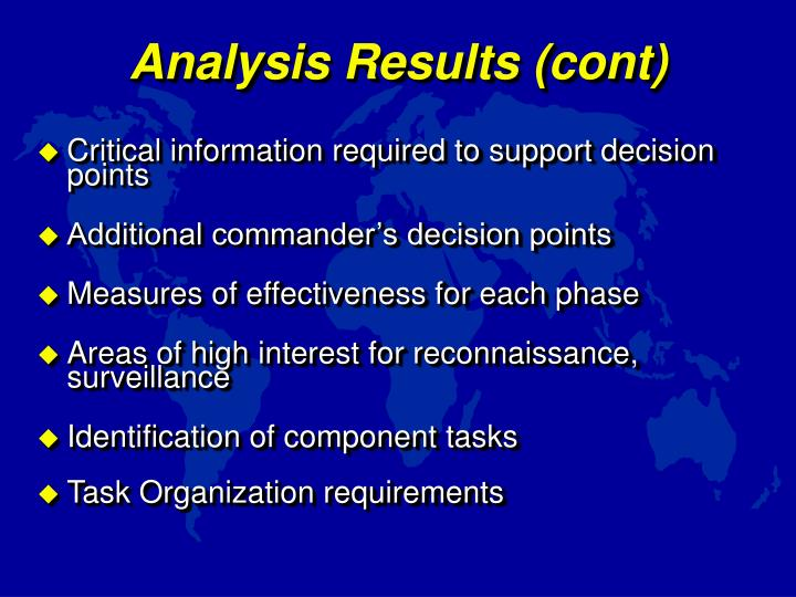 Analysis Results (cont)