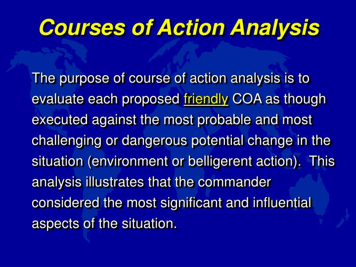 Courses of Action Analysis