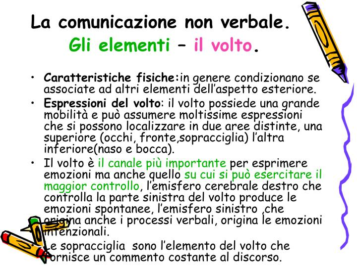 La comunicazione non verbale.