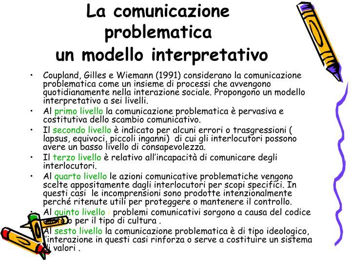 La comunicazione problematica