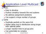 application level multicast1