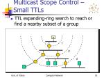 multicast scope control small ttls