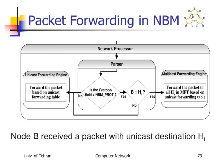 Packet Forwarding in NBM