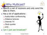 why multicast