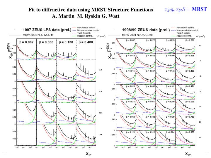 Fit to diffractive data using MRST Structure Functions