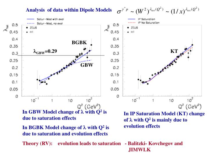 Analysis  of data within Dipole Models