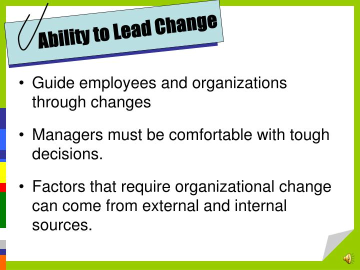 Ability to Lead Change