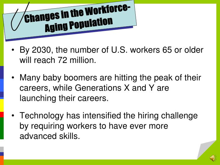 Changes in the Workforce-Aging Population