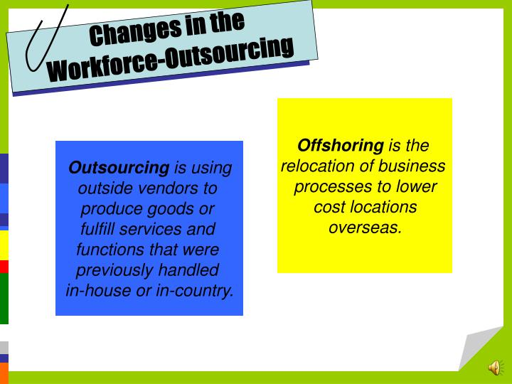 Changes in the Workforce-Outsourcing