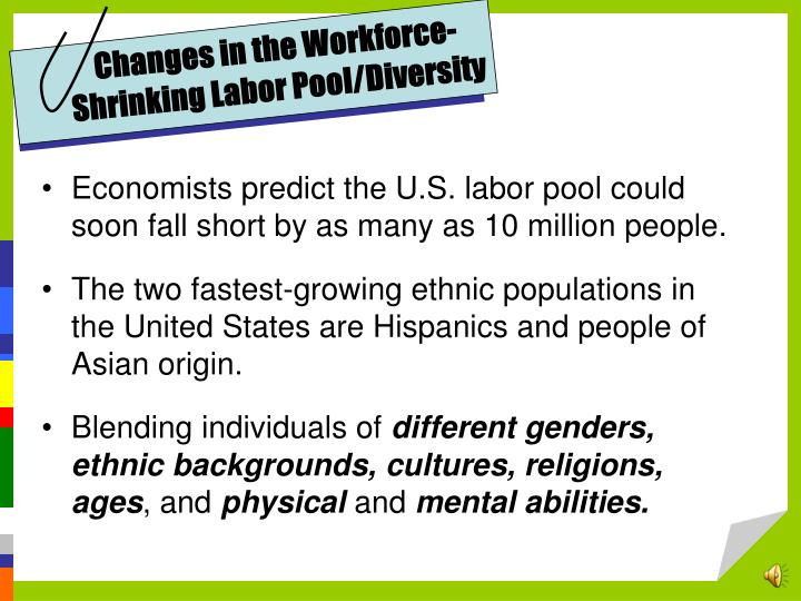 Changes in the Workforce-Shrinking Labor Pool/Diversity