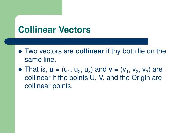 Collinear Vectors