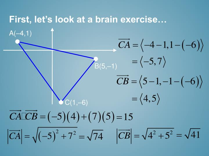 First, let's look at a brain exercise…