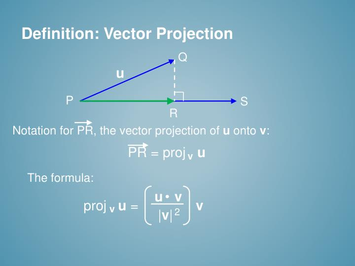 Definition: Vector Projection