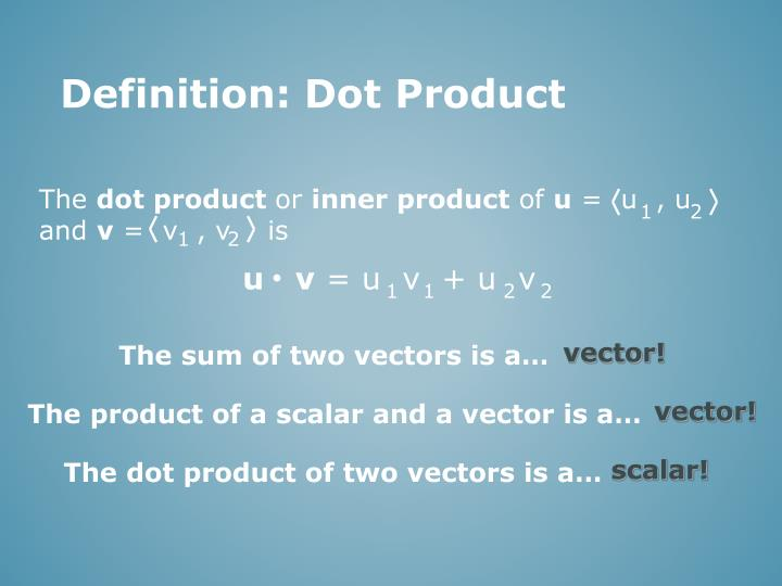 Definition: Dot Product