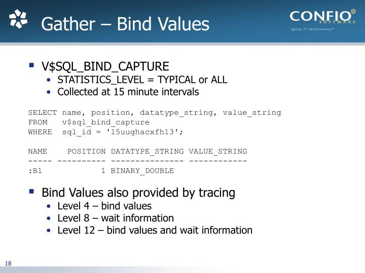 Gather – Bind Values