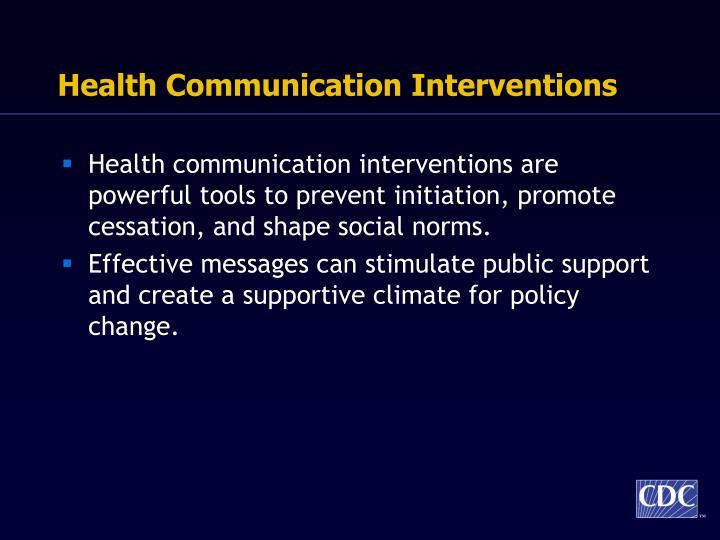 Health Communication Interventions