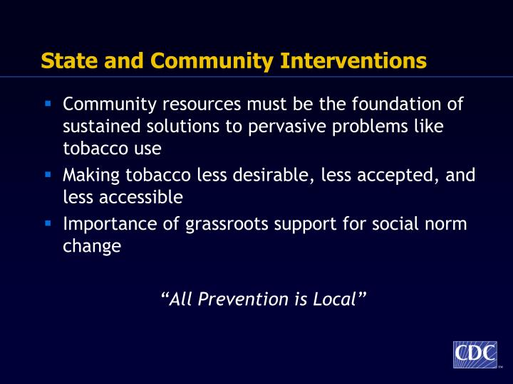 State and Community Interventions