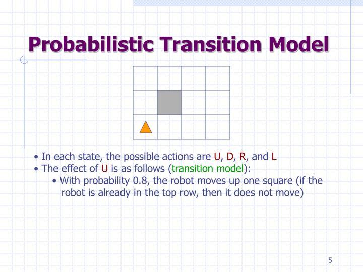 Probabilistic Transition Model