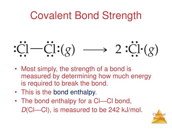Covalent Bond Strength