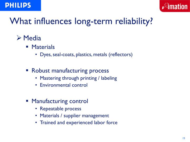 What influences long-term reliability?