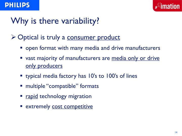 Why is there variability?