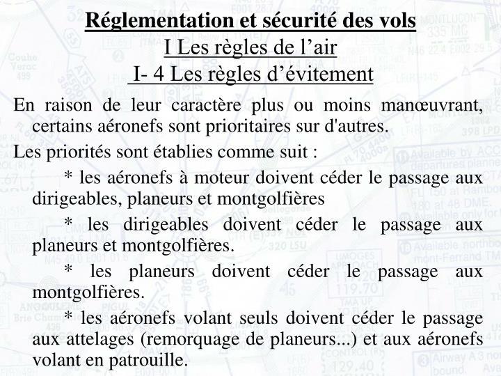 Réglementation et sécurité des vols